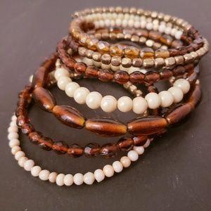 🍁Fall time wrap bracelet in Earth tones